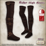 AD rider high boots SLINK Brown