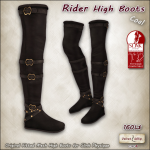 AD rider high boots SLINK Coal