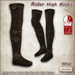 AD rider high boots SLINK Moss