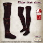 AD rider high boots SLINK wine