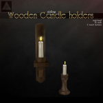 aisling Wooden candles holders