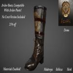 Azuchi Archer Boots Black Ad