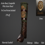 Azuchi Archer Boots Brown Ad
