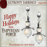 Empyrean Forge_ WLRP Hunt Gift - Lil'Frosty Earrings