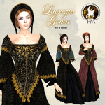 !! FANTAVATAR & MOONSTRUCK !! Lucrezia Gown