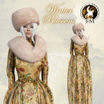!! FANTAVATAR & MOONSTRUCK !! Winter Blossom Gown