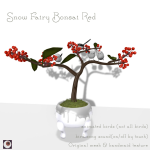 (HUNT ITEM)_NAMINOKE_Snow Fairy bonsai red AD
