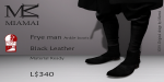 Miamai_FryeMan AnkleBoots - Black (Male Slink flat) key