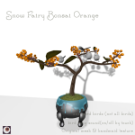 _NAMINOKE_Snow Fairy bonsai orange AD