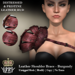 (Yummy) Leather Shoulder Brace - Burgandy