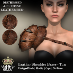 (Yummy) Leather Shoulder Brace - Tan