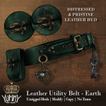 (Yummy) Leather Utility Belt - Earth