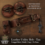 (Yummy) Leather Utility Belt - Tan