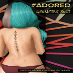 #adored geometric bolt tattoo back