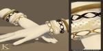 (Kunglers) Keira bracelets cream