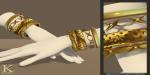 (Kunglers) Keira bracelets golden
