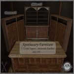 ~_S.E._~ Apothecary Counter and Shelves Pic