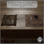 ~_S.E._~ Apothecary Tools & Cutting Board Pic
