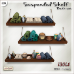 [V_W] AD susp shelf Bath Set