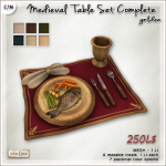 AD medieval Table Set Complete Golden