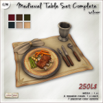 AD medieval Table Set Complete Silver