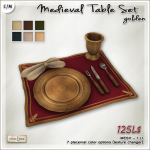 AD medieval Table Set Golden