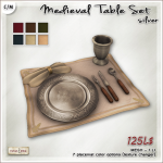 AD medieval Table Set Silver