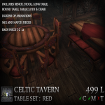 Stormwood Tavern Table Set - Red