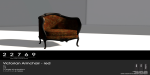 22769 ~ [bauwerk] Victorian Armchair Red PG [ad]