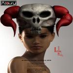 AZOURY - Isilla Headwear [Ruby Horn]