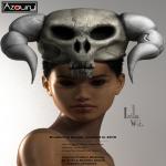 AZOURY - Isilla Headwear [White Horn]