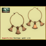 Bliensen - Asgerd's Axe - earrings gold Kopie