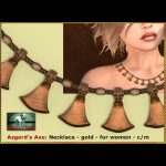 Bliensen - Asgerd's Axe - necklace gold- F Kopie