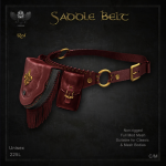 Forge Saddle Belt Red