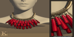 (Kunglers) Sile necklace cherry