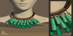 (Kunglers) Sile necklace teal
