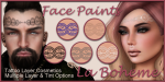 LB Ad Face Paint Mehndi Band