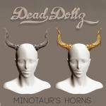 Dead Dollz - Minotaur Horns WLRP BD Gift'16