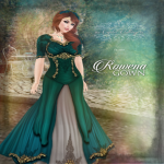 Rowena Gown Poster