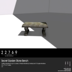 22769 ~ [bauwerk] Secret Garden Stone Bench [ad]