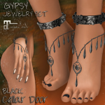 CELLAR DOOR GYPSY JEWELRY SET BLACK