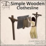 SimpleWoodenClothesline